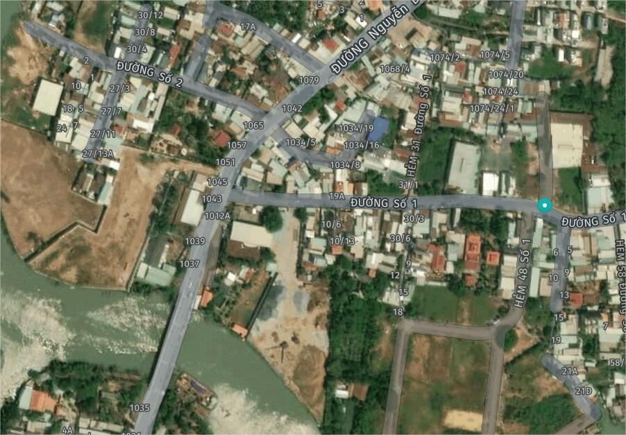 Mặt tiền 43 đường số 1 Cầu Ông Nhiêu. 100m2 đất giá 5.25 tỷ. Cách Nguyễn Duy Trinh chỉ 30m