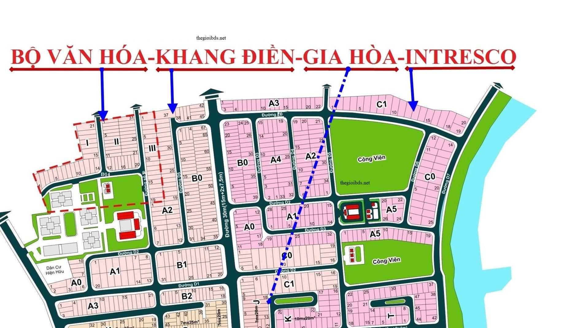 Nền I-16 Khang Điền – Bộ Văn Hóa: 9.25 tỷ [9×28.5/257m2]