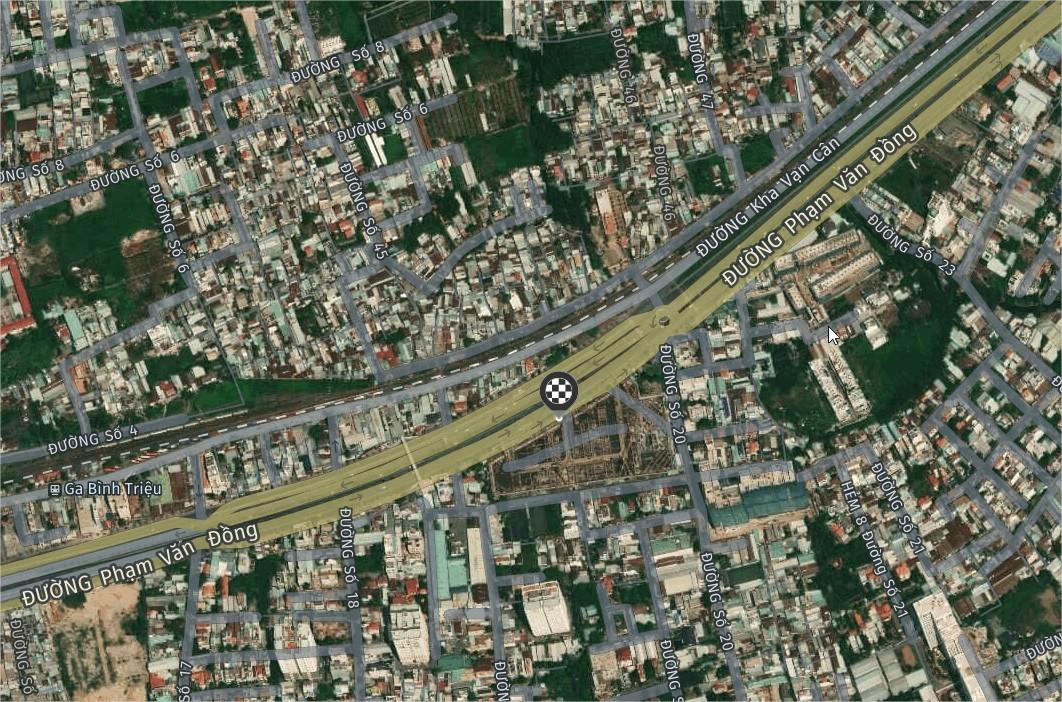25m Mặt tiền Phạm Văn Đồng diện tích sử dụng hơn 200m bán 17 tỷ. Có nhà 1 trệt 2 lầu thổ cư 90m2