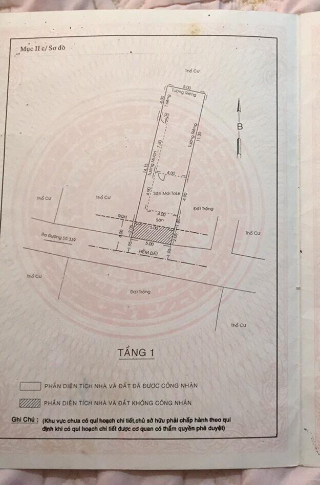 Dãy trọ hẻm thông 5m đường 109 Phước Long B. Vuông đẹp 5×20 . Tiện để an cư và xây dựng mới