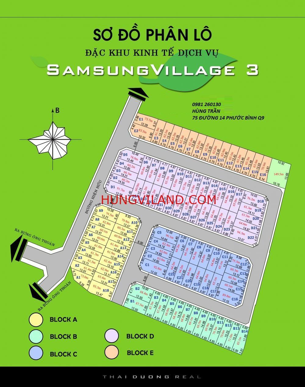 Đất SamSung Village Quận 9 – 0981260130
