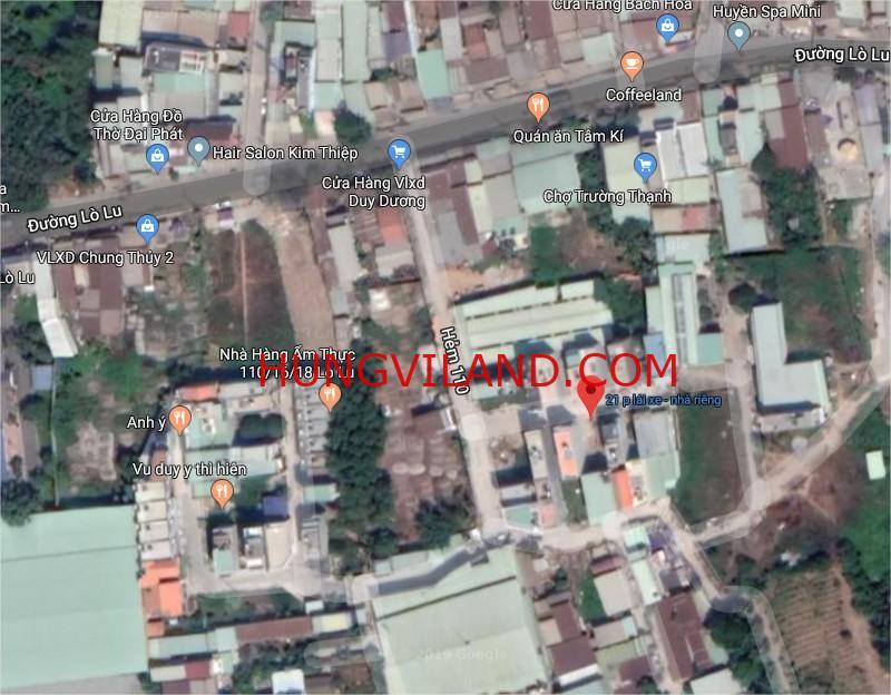 Bán lô đất 56m2 hẻm 110 Lò Lu kế bên dự án Simcity giá 2.7 tỷ 48tr/m2