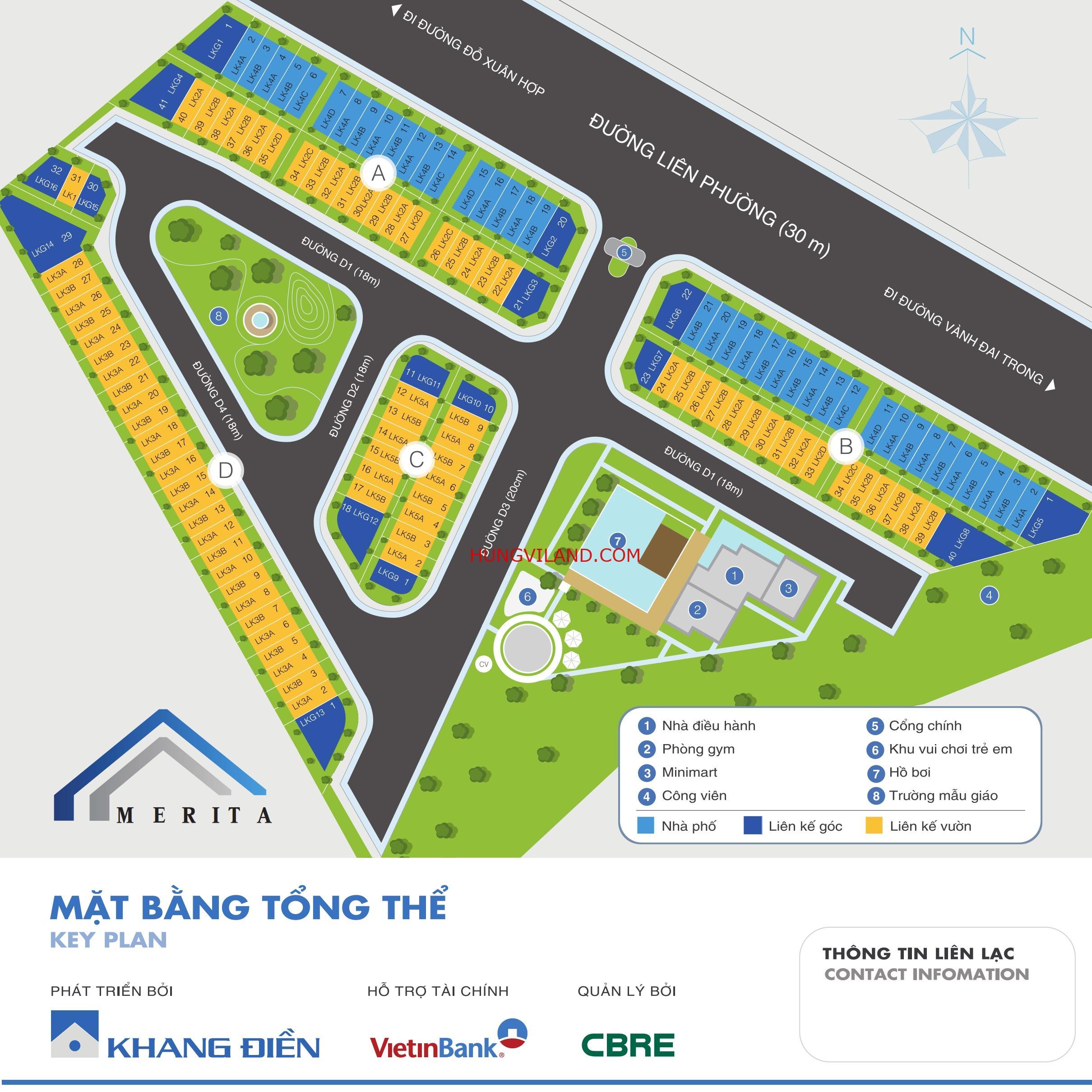 BIỆT THỰ 240m2 VIP MERITA KHANG ĐIỀN Q9. Nhà thô tiện về thiết kế nội thất theo ý mình. Thiết kế 1 trệt 2 lầu có sổ hồng riêng – 0981260130