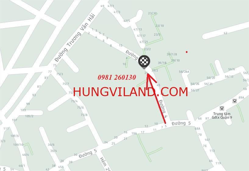 Bán dãy trọ mặt tiền đường 4 Tăng Nhơn Phú A. Ngang 4.7m tiện xây ở.